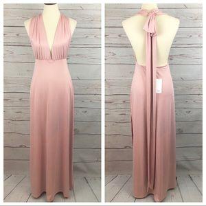 NWT Tobi Backless Maxi Halter Goddess Dress